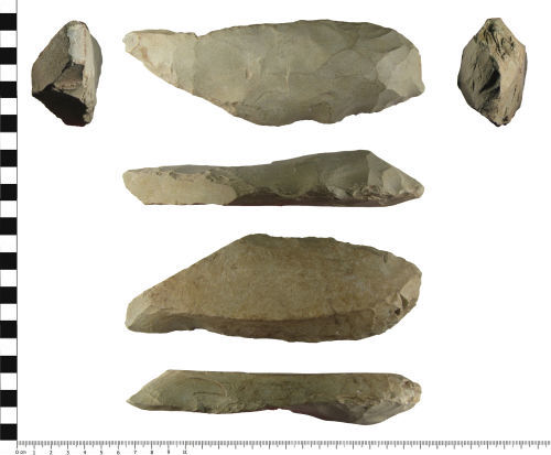 A resized image of Neolithic stone axe roughout