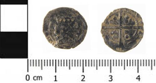 SWYOR-EC1214: Medieval coin; penny probably of Edward IV