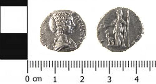 SWYOR-EC5061: Roman coin; denarius of Julia Domna
