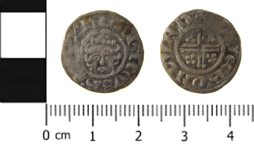SWYOR-BB7F5C: Medieval coin; penny of Henry III, Class 7a(D)