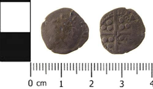 SWYOR-933FB8: Medieval coin; penny of Edward IV