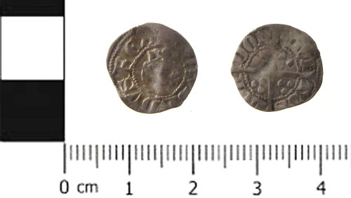 SWYOR-E16990: Medieval coin; half penny of Edward III, Florin coinage Withers type 7