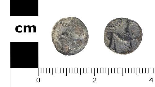SWYOR-C9BB51: Iron Age coin; North Eastern silver half unit