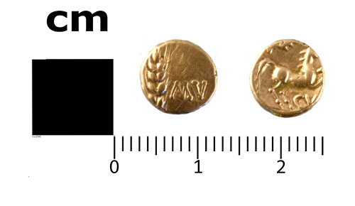 SWYOR-79D5AE: Gold quarter stater of Cunobelinus