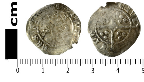 SWYOR-001C52: Medieval coin; penny of Edward III, Treaty series
