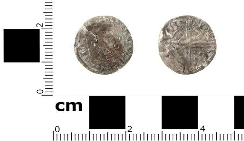SWYOR-AC5D7B: Medieval coin; voided long cross penny of Henry III, Class 5a1