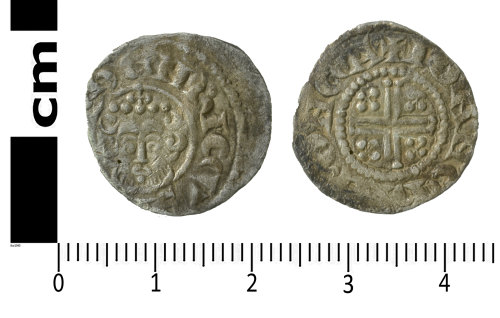 SWYOR-140677: Medieval coin; short cross penny of Henry III, Class 7bc