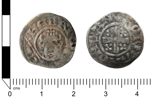 A resized image of Medieval coin; penny of Henry III, Class 7a