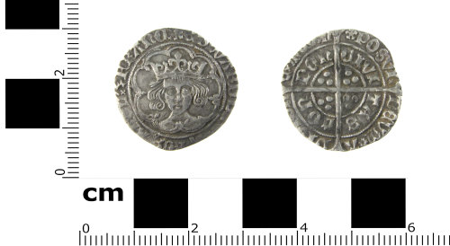 SWYOR-EA1AAD: Medieval coin; groat of Edward IV, second reign, type XXI
