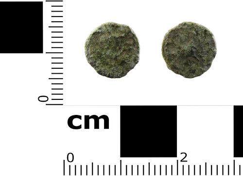 SWYOR-D4292D: Roman coin; contemporary copy of a nummus of Constantius II, FEL TEMP REPARATIO, Fallen Horseman