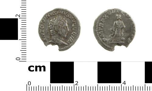SWYOR-F2EC9A: Roman coin; denarius of Caracalla