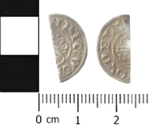 SWYOR-97F386: Medieval coin; cut halfpenny of Henry III, class 6d - 7a
