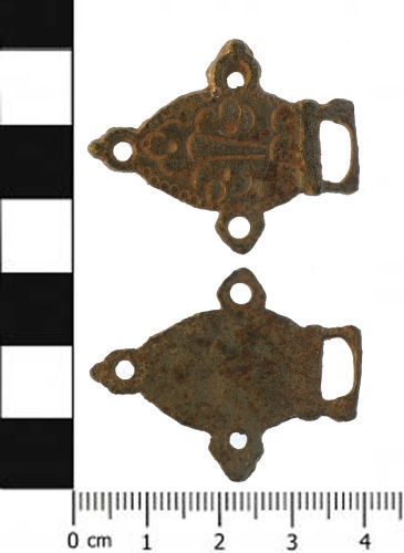 SWYOR-F186F2: Post medieval clothing fastener, eye piece