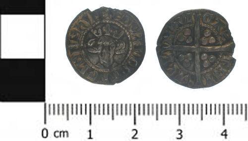 SWYOR-9DD571: Medieval coin; penny of Edward I, class 10a