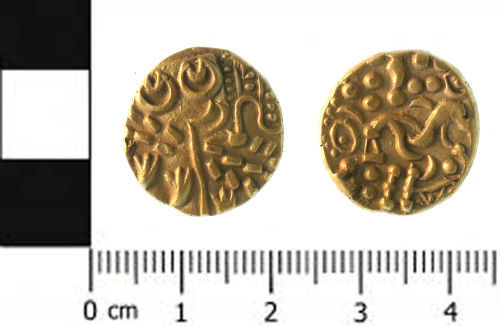 SWYOR-0EC677: Iron age coin; gold stater
