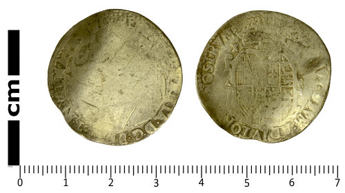 SWYOR-13298E: Post Medieval coin; shilling of Philip and Mary