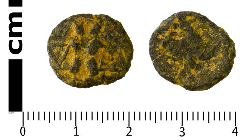 SWYOR-393090: Iron Age coin; core of a North Eastern Corieltauvi stater of Dumnocoveros Tigirseno