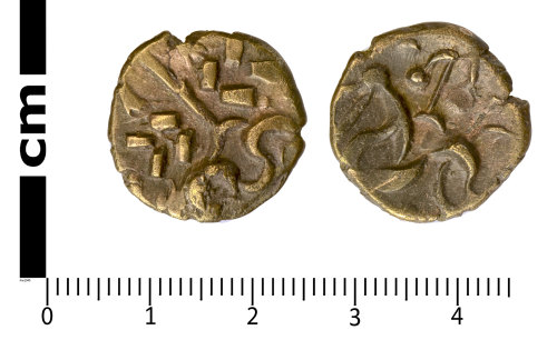SWYOR-3DCA7B: Iron Age coin; gold stater of the Corieltauvi