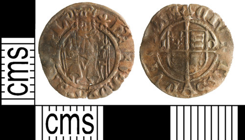 YORYM-F97C9B: Post-medieval coin : penny of Henry VIII