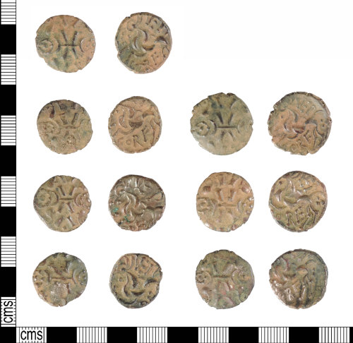 A resized image of Late Iron Age gold staters: ABC1854