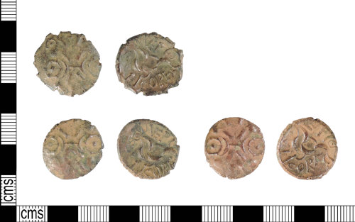 A resized image of Late Iron Age gold staters: ABC1857