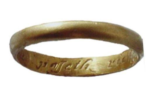 LIN-33D707: Post-medieval gold finger ring