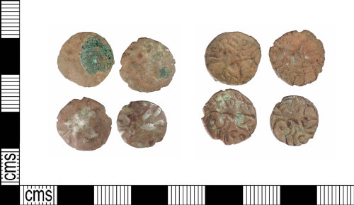 A resized image of Late Iron Age silver units; ABC1878