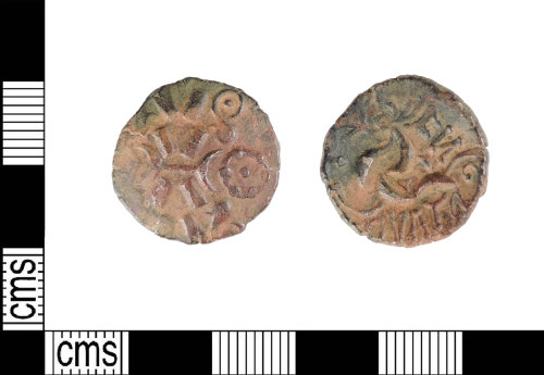 A resized image of Late Iron Age gold stater: CO VAT N F