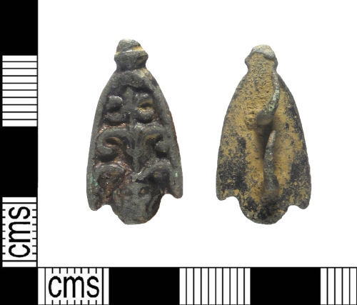 LIN-541DEB: Post-medieval copper alloy mount
