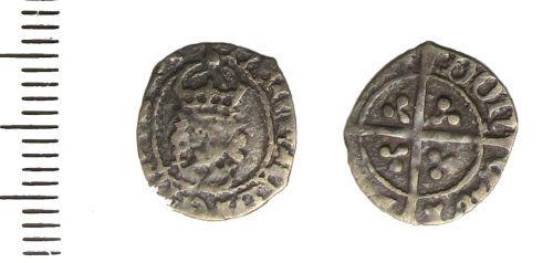 LIN-A6D755: Medieval silver halfpenny
