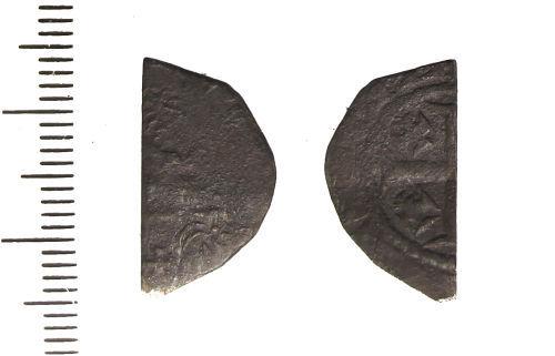 LIN-A61BA2: Medieval silver cut halfpenny