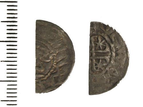 LIN-A66F16: Medieval silver cut halfpenny