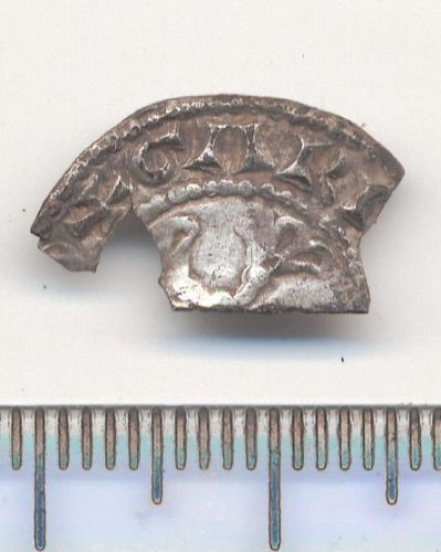LIN-55F857: MEDIEVAL COIN: cut halfpenny of William I (reverse)