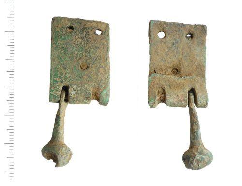 LIN-FD3808: Medieval copper alloy harness pendant