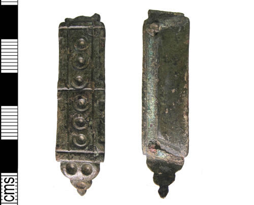 LIN-F6A115: Medieval copper alloy mount
