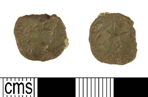 LIN-147D82: Late Roman copper alloy nummus