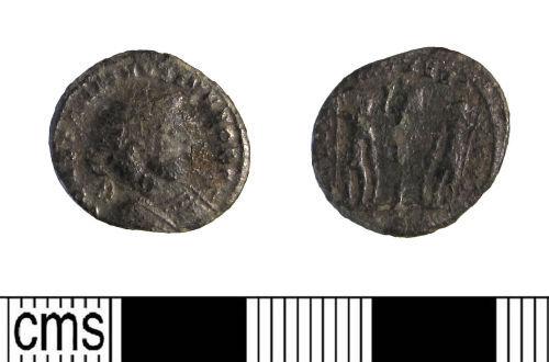 LIN-031A76: Late Roman copper alloy nummus