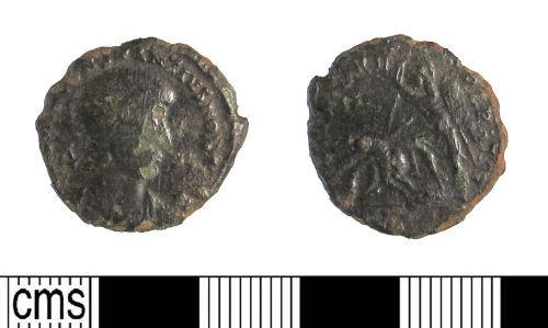 LIN-034427: Late Roman copper alloy nummus