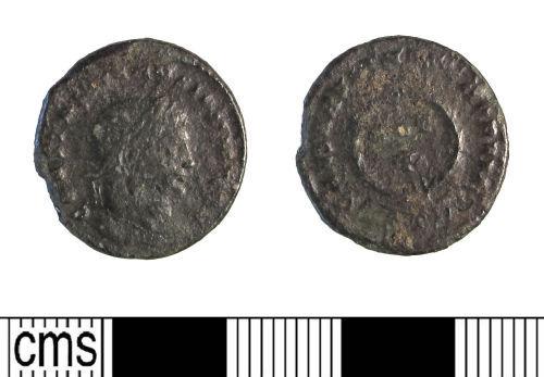 LIN-0367B6: Late Roman copper alloy nummus