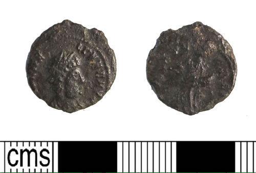 LIN-03C1E1: Late Roman copper alloy nummus