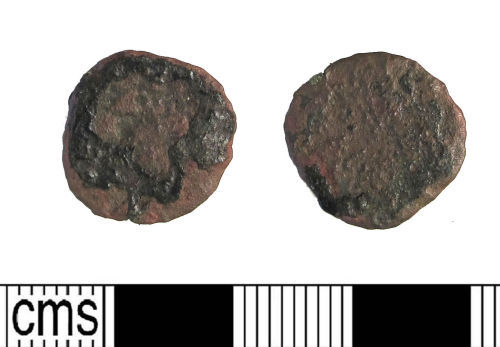 LIN-04E834Z: Late Roman copper alloy nummus