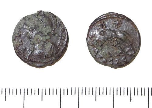 LIN-972961: Late Roman copper-alloy nummus