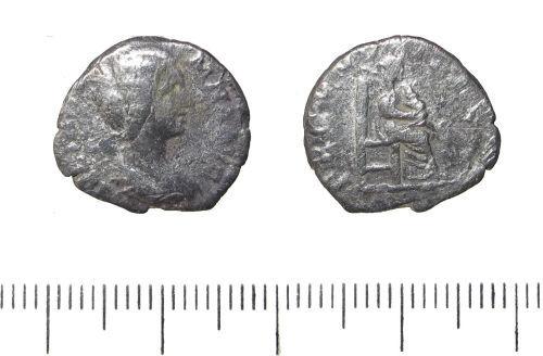 LIN-7E4F07: Roman silver denarius of Julia Domna