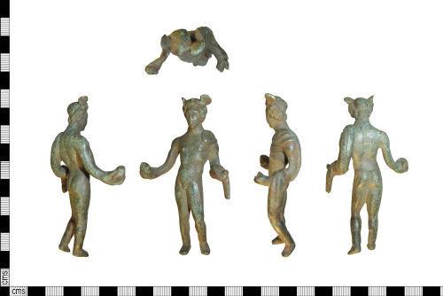 LIN-25CC02: Roman copper-alloy figurine of Mercury