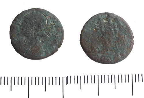 LIN-8C1604: Late Roman copper alloy nummus