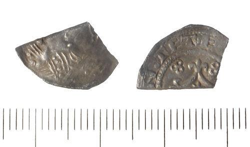 LIN-020FC8: Medieval silver cut halfpenny