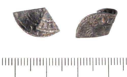 LIN-D548E2: Medieval silver cut halfpenny