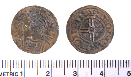 LIN-2FF154: Silver penny of Cnut
