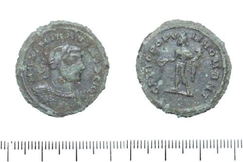 LIN-46F6E8: Roman copper alloy nummus