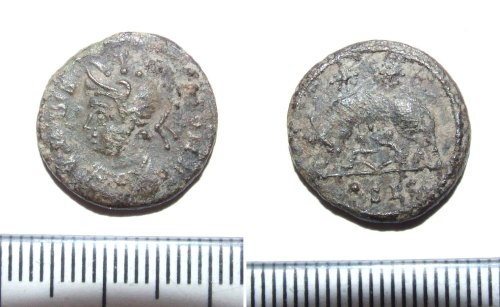 LIN-C92D44: Roman copper alloy nummus